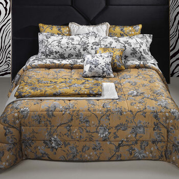 China Birds Bed Set - Silver/Gold