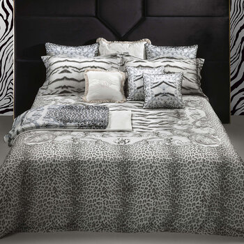 Tiger Frame Bed Set - Silver