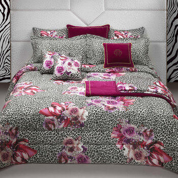 Bouquet Leopard Bed Set - Pink
