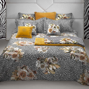 Bouquet Leopard Bed Set - Gold