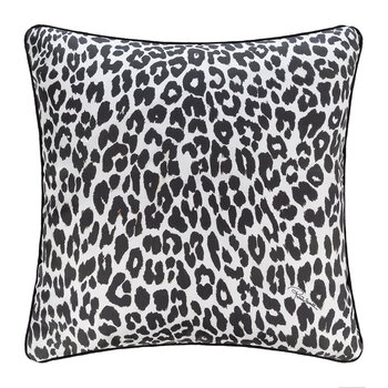 Bouquet Leopard Silk Cushion - 40x40cm - Gold