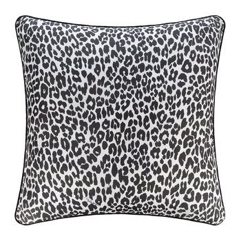 Bouquet Leopard Silk Pillow - 60x60cm - Pink