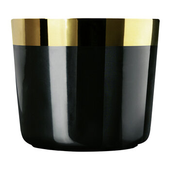 Sip of Gold Champagne Goblet - Black Gold