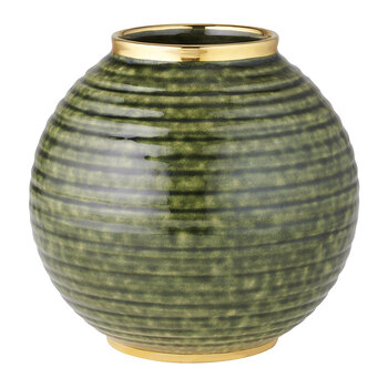 Calinda Round Vase - Forest Green