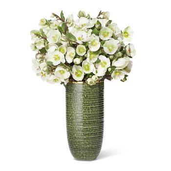 Calinda Tall Vase - Forest Green