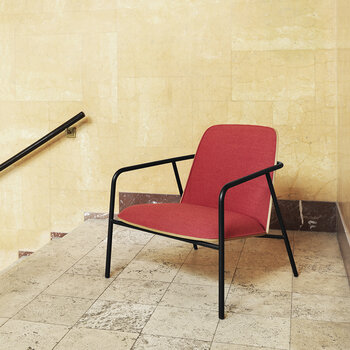 Fabric Pad Lounge Chair - Red