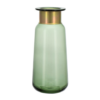 Miza Glass Tall Vase - Green