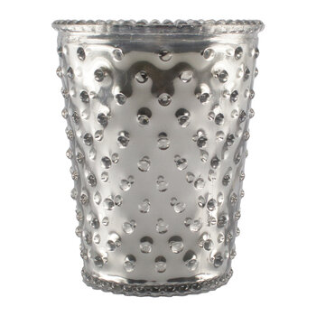 Hobnail Glass Candle - Chrome Silver Vanilla Bean