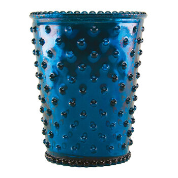 Hobnail Glass Candle - Chrome Blue Winter Frost