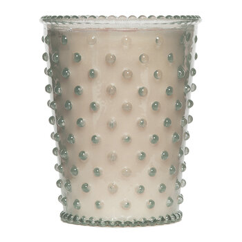 Hobnail Glass Candle - Champagne