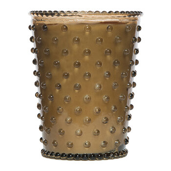 Hobnail Glass Candle - Nutmeg
