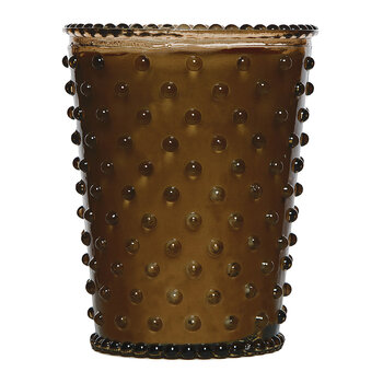 Hobnail Glass Candle - Cocoa Almond