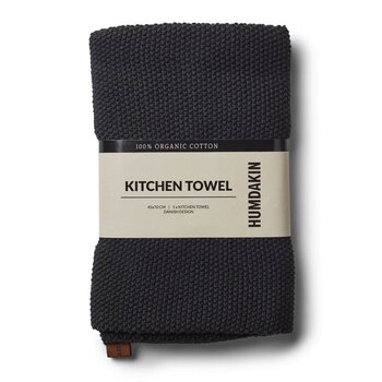 Knitted Tea Towel - Coal