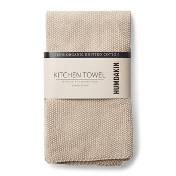 Knitted Kitchen Towel - Ivory