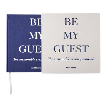'Be My Guest' Guest Book - Grey/Navy