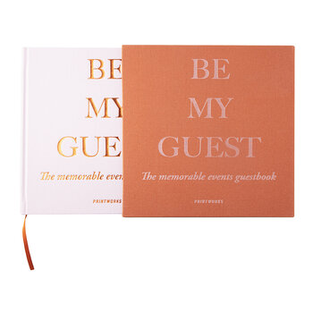 'Be My Guest' Guest Book - Rust/Pink