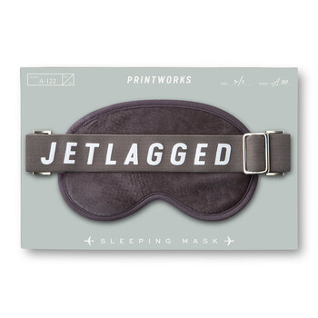 'Jetlagged' Eye Mask - Dove Grey