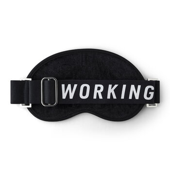 'Working' Eye Mask - Black