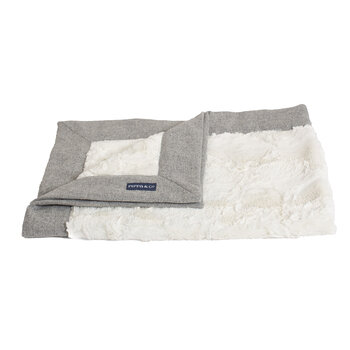 Classic Pet Blanket - Silver/Natural Fur