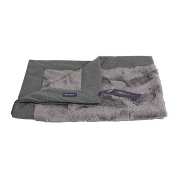 Classic Pet Blanket - Light Grey/Grey Fur