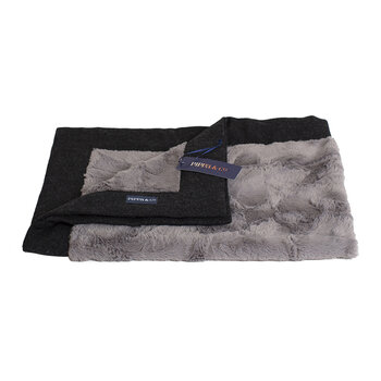 Classic Pet Blanket - Charcoal/Grey Fur - Small