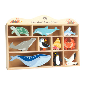 Coastal Animals Shelf - Set of 10