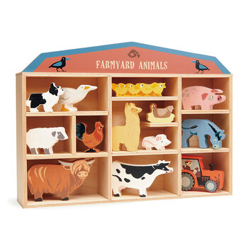 Kids Farmyard Animals Shelf - Set of 13