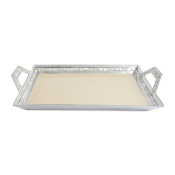 Classic Tray with Handles - Snow