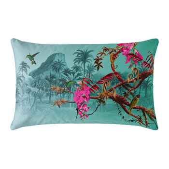 Hibiscus Pillowcase - Set of 2 - Jade