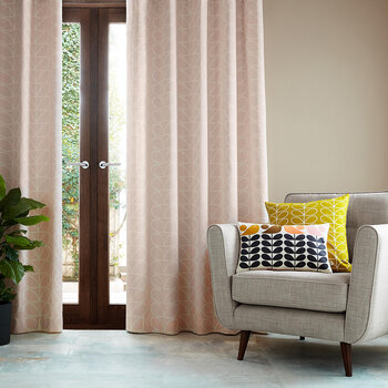 Linear Stem Curtains - Pink