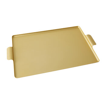 Pressed Metal Tray - Gold