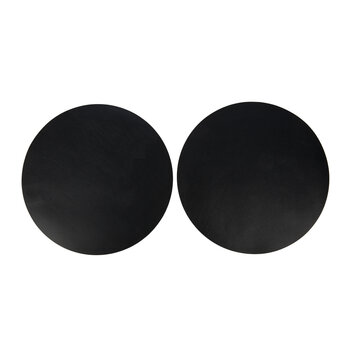 Double Sided Leather Placemat - Set of 2 - Black