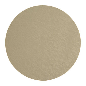 Double Sided Vegan Leather Coasters - Set of 4 - Taupe