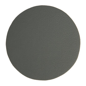 Double Sided Vegan Leather Coasters - Set of 4 - Grey