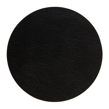 Double Sided Vegan Leather Coasters - Set of 4 - Black