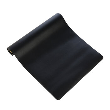 Double Sided Vegan Leather Table Runner - Black