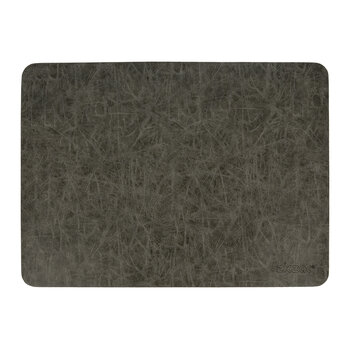 Mottled Look Vegan Leather Placemat - Set of 2 - Charcoal