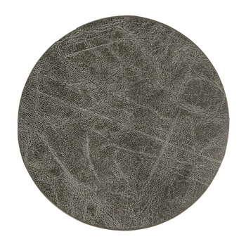Mottled Look Vegan Leather Coasters - Set of 4 - Charcoal
