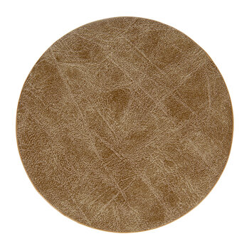 Mottled Look Vegan Leather Coasters - Set of 4 - Taupe