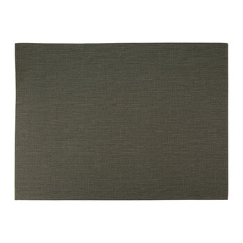 Grain Effect Vegan Leather Placemat - Set of 2 - Olive
