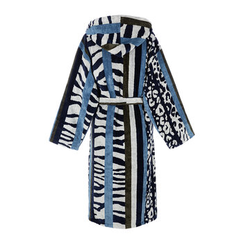 Savana Hooded Bathrobe - Blue