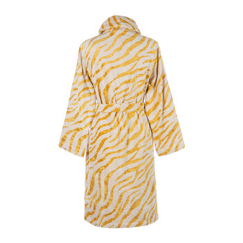 Animalier Shawl Bathrobe - Gold