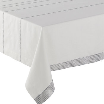 Couture Tablecloth - White &Silver - 170x320cm