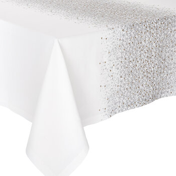 Meteore Tablecloth - White/Silver/Gold - 170x320cm