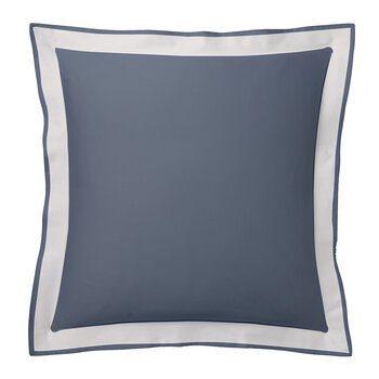 Marceau Pillowcase - Navy/Snowy White