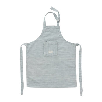 Gobi Apron Mini - White/Dusty Blue