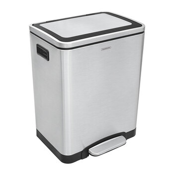 Stainless Steel Double Pedal Bin - 2x15L