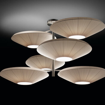 Siam 6 Lights Ceiling Pendant - Cream