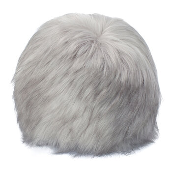 Faux Fur Snowball Cushion - Himalaya Pearl