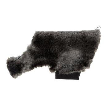 Faux Fur Dog Coat - Anthracite Gray